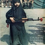 Young Girl Carrying Rifle,1979