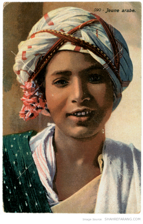 """Young Arab"", Post card from Lehnert and Landrock"