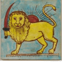 hand-painted-pottery-glazed-ceramic-tile-depicting-traditional-lion-sun-shirokhorshid