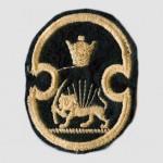 Lion and Sun on Mohammad Reza Pahlavi Era Military Badge