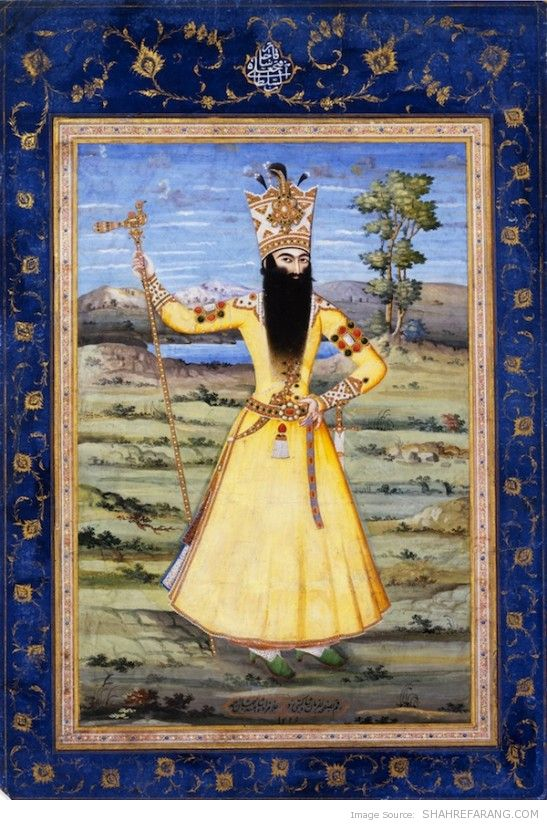Fath-Ali Shah, by Ahmad, 1811, The David Collection, Denmark