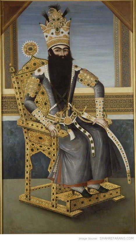 Fath-Ali Shah, c. 1800–1806, Musée du Louvre