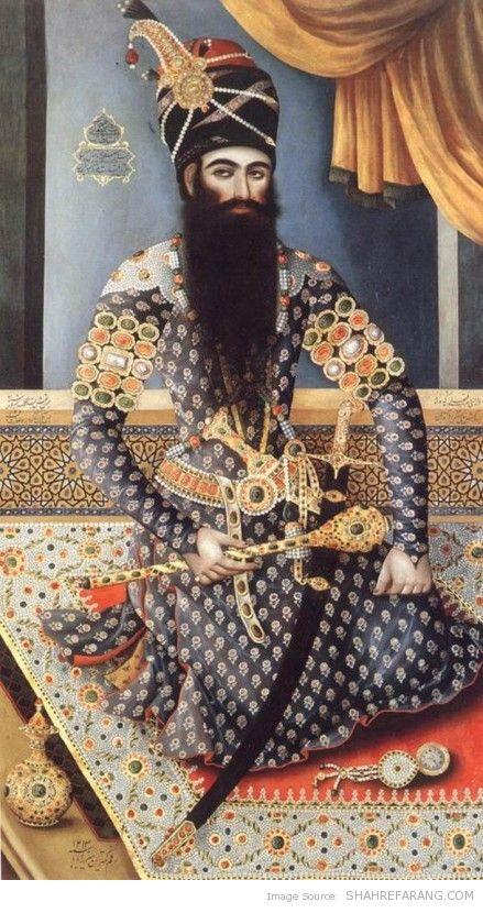 Fath-Ali Shah, by Mirza Baba, 1798-99