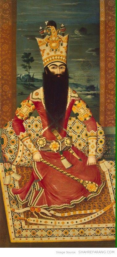 Fath-Ali Shah, by Mehr Ali, 1813-14, Hermitage Museum