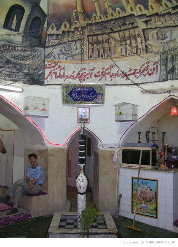 Inside a public bath in Shiraz