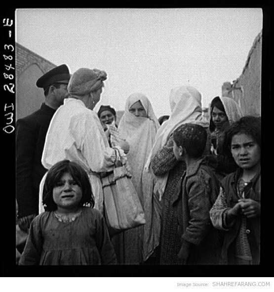 Mrs. Dreyfus Touring Southern Tehran