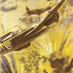 The Downfall of the Dictators is Assured. Britain's Beaufighters shoot down Rommel's fleeing soldiers in North Africa. © IWM (Art.IWM PST 15019) - دیکتاتورها شکست خواهند خورد