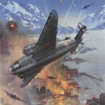 The Downfall of the Dictators is Assured. A raid by British Lockheed Hudson bombers on German warships anchored in a Norwegian port. © IWM (Art.IWM PST 15045) - دیکتاتورها شکست خواهند خورد