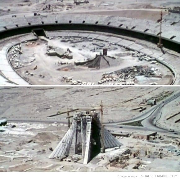 Azadi Tower, 1969-1970