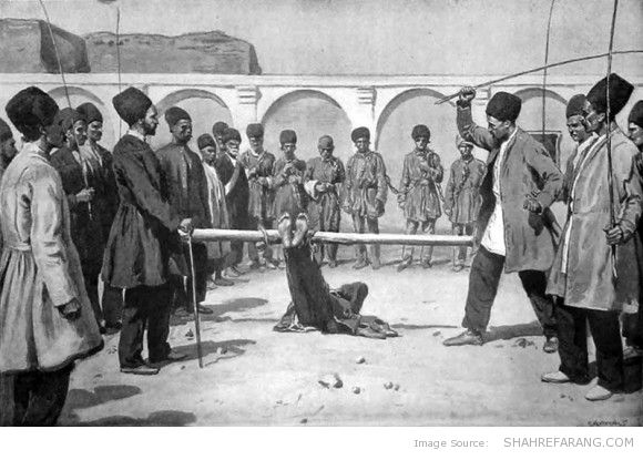 Bastinado in Persia, The Illustrated London News (1896)