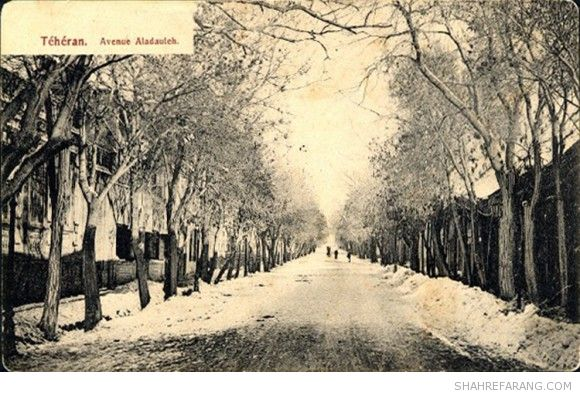 Alao-Ddowleh Avenue in Winter, 1910