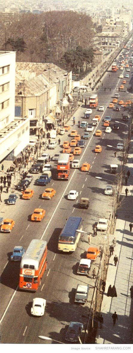 Ferdowsi Avenue, mid 1960s