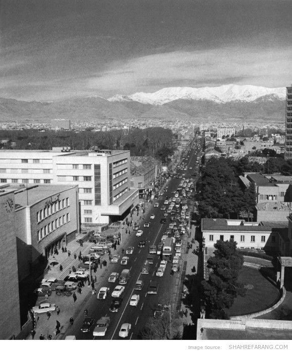 Ferdowsi Ave., 1966 (Photo by Mahmoud Pakzad)