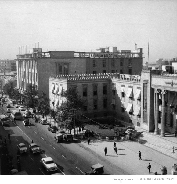 Banke Melli Building (The National Bank), Ferdowsi Ave, 1961 (Photo by Mahmoud Pakzad)