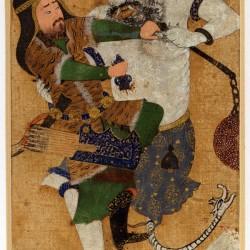 Rostam kills White Deev - نبرد رستم و دیو سفید