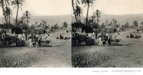 Original Stereoscopic Image of a Place in Southern Iran