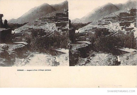 Original Stereoscopic Image of an Iranian Village