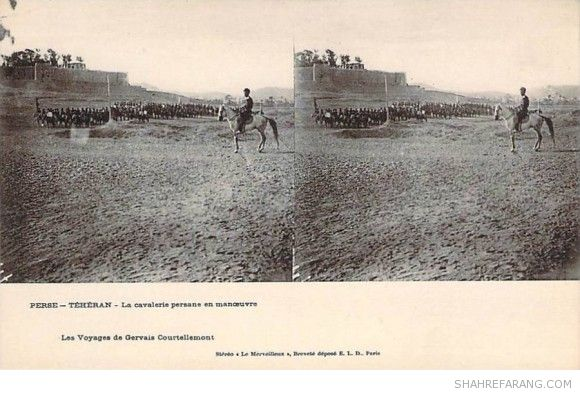 Original Stereoscopic Image of a Military Exercise