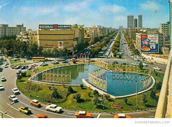 Tehran's Valiahd Square (now 'Valiasr') seen from the north-east