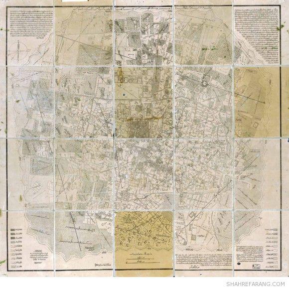 Tehran Map, 1889