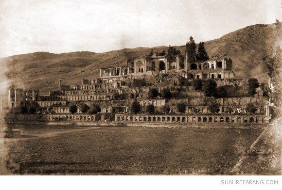 باغ تخت شیراز، عکس از ای اچ پی هتز، ۱۸۹۴ میلادی، کتابخانه ی ملی هلند