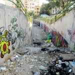 Graffiti on Tehran canal walls (3)