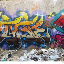 Graffiti on Tehran canal walls (7)