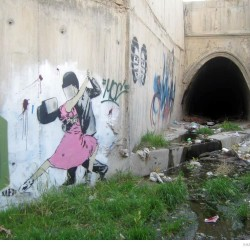 Graffiti on Tehran canal walls (23)