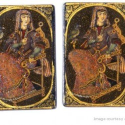 Iranian Laquer Playing Cards (Ganjifa)