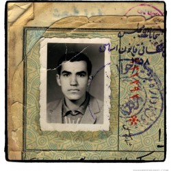 "Iranian men, born in 1942. From Najaf Shokri's art project ""Documentation of Iranian Men"""