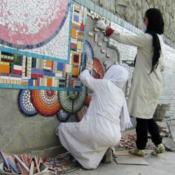 Mosaic Decorating in San'at Square (3)
