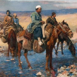 Edwin Lord Weeks Horses at the Ford, Persia
