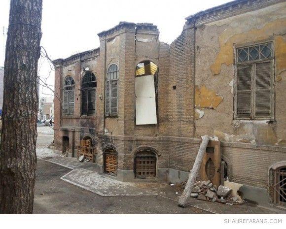 خانه ی ظهیرالاسلام در خیابان صفی علیشاه، ۲۱ آذرماه ۱۳۹۲