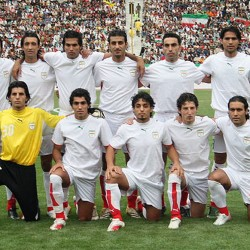The national football team of Iran in 2006