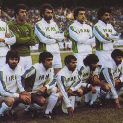 The national football team of Iran in 1978