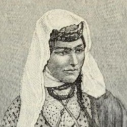 Armenian woman in street costume