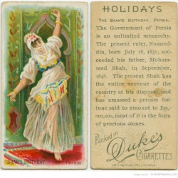 Holidays, Shah's Birthday, Persia. (ca. 1885-1900)