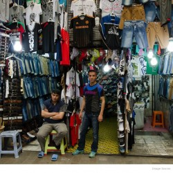 Clothes Sellers, Hazrati street-Molavi-Tehran