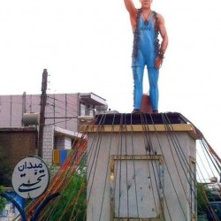 The statue of Gholamreza Takhti in Takhti square (City of Izeh), ~2011-2012