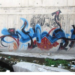 Graffiti on Tehran canal walls (14)