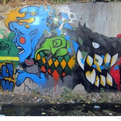 Graffiti on Tehran canal walls (60)